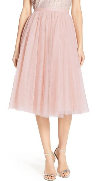 Jenny Yoo lucy tulle skirt in cameo pink - An A-line skirt offers delightful flounce sewn from...