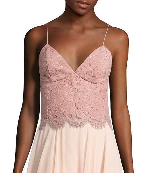 Jenny Yoo pipa lace cami top in whippedapricot - Alluring floral lace cami top with scalloped hem.V-neck....