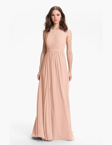 JENNY YOO 'vivienne' pleated chiffon gown - Pull out the photos many years from now, and you'll see...