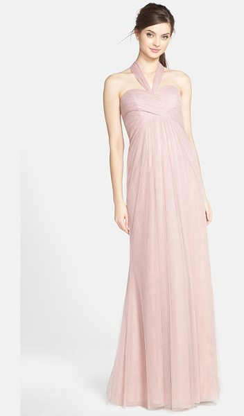 Jenny Yoo willow convertible tulle gown in whipped apricot - A crisscrossed sweetheart bodice atop a softly flowing...