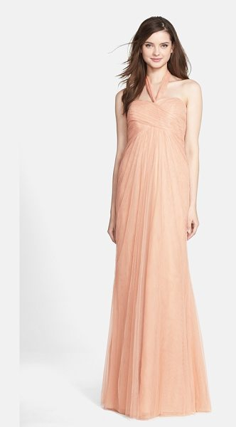 Jenny Yoo 'willow' convertible tulle gown in cameo pink - A crisscrossed sweetheart bodice tops a softly flowing...