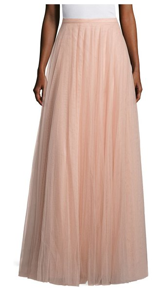Jenny Yoo winslow tulle long skirt in cameo pink