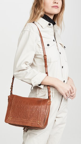 JEROME DREYFUSS Igor small messenger-colorless in colorless - Jerome Dreyfuss nude calfskin Igor bag. Front flap...