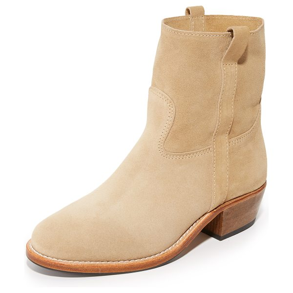 JEROME DREYFUSS jane booties - Luxe suede Jerome Dreyfuss booties with pull tabs at the...