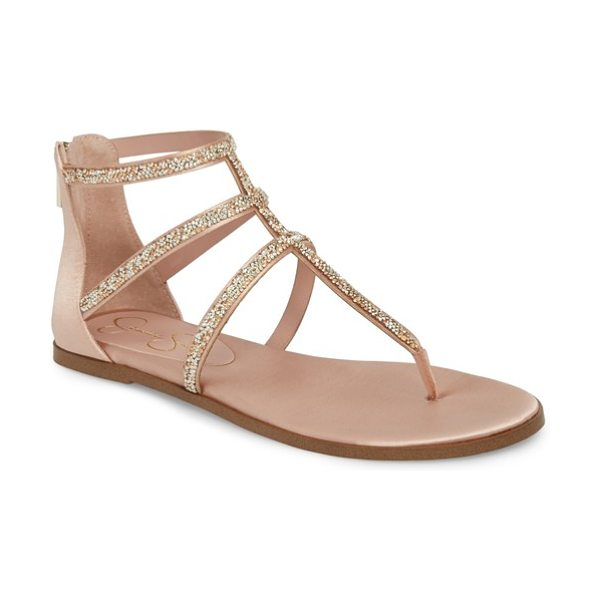 Jessica Simpson cammie sandal in nude blush - Slim shimmering straps stretch across the vamp of a...