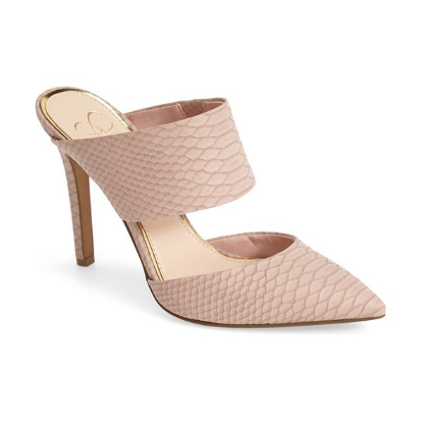 JESSICA SIMPSON chandra mule in dusty rose - A sleek mule featuring mod cutouts and an open-back...
