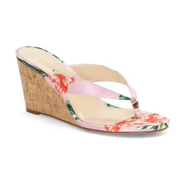 Jessica Simpson coyrie wedge flip flop in pink