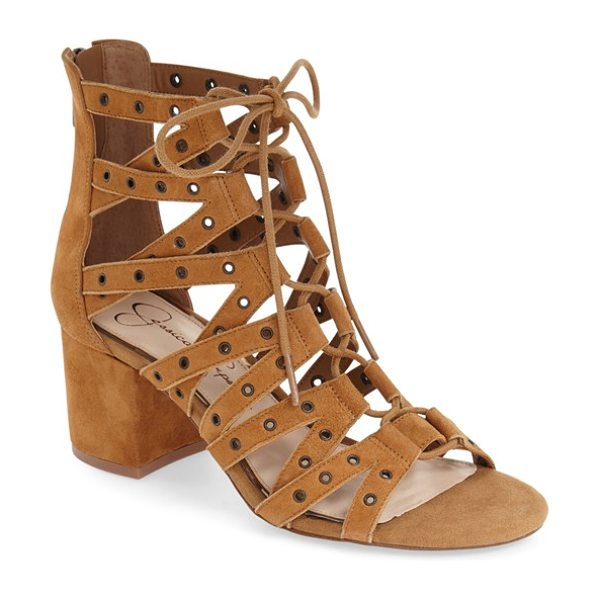 JESSICA SIMPSON 'haize' cage sandal - Polished grommets highlight the striking cage straps of...