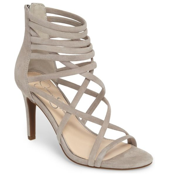 Jessica Simpson harmoni sandal in warm stone - Laddered and crisscrossed straps give interest to a...