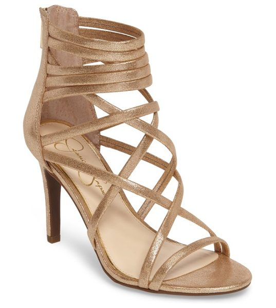 Jessica Simpson harmoni sandal in gold - Laddered and crisscrossed straps give interest to a...