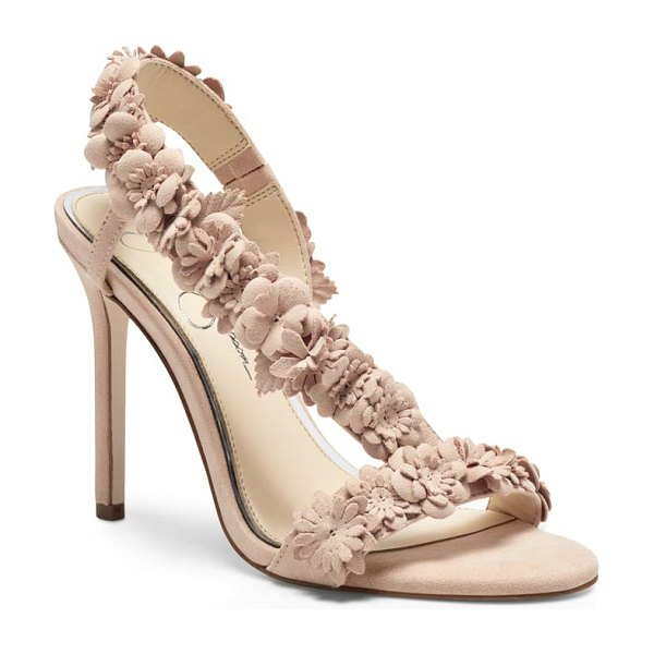 Jessica Simpson jessin ankle wrap sandal in pink