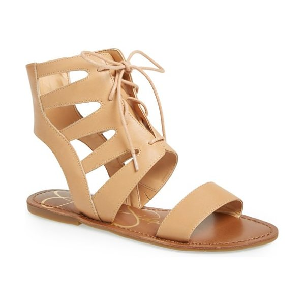 Jessica Simpson karrdeez sandal in beach sand - A lace-up silhouette adds a fresh twist to an...
