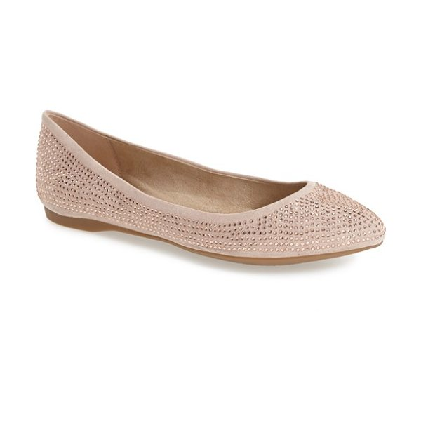Jessica Simpson labelle studded pointy toe flat in sandbar - Tonal rhinestone studs shimmer on this pointy toe flat...