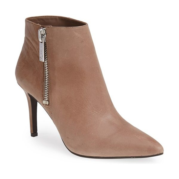 Jessica Simpson lafay bootie in totally taupe - Sleek leather adds sophisticated style to an essential...