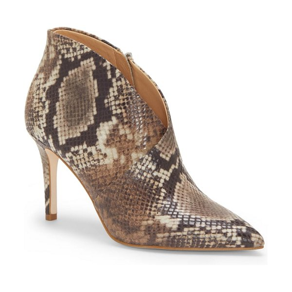 Jessica Simpson layra bootie in beige - Wrap styling and a swooping topline add subtle drama to...