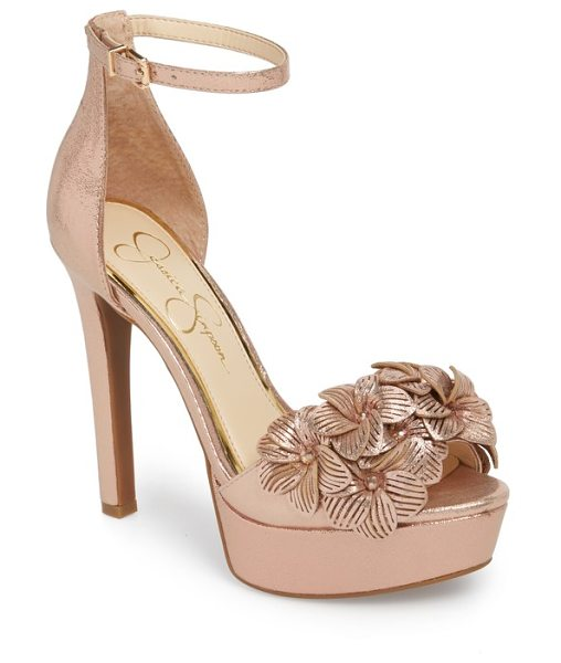 JESSICA SIMPSON mayfaran sandal - A svelte heel adds sky-high height to this striking sandal...