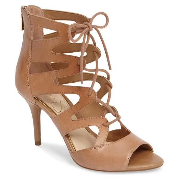 Jessica Simpson mitta sandal in buff leather - Ghillie-style lacing ladders up the front of this...