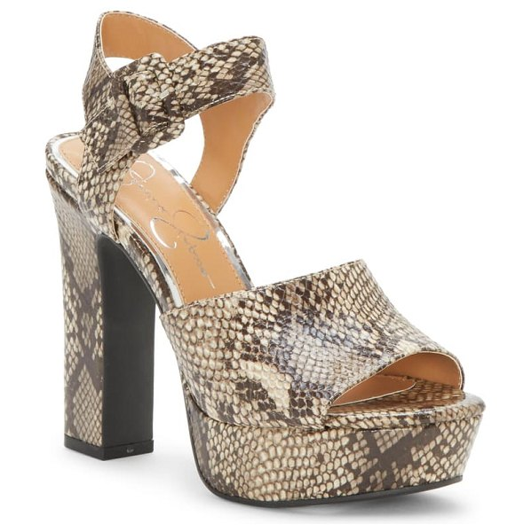 Jessica Simpson naenia platform sandal in brown