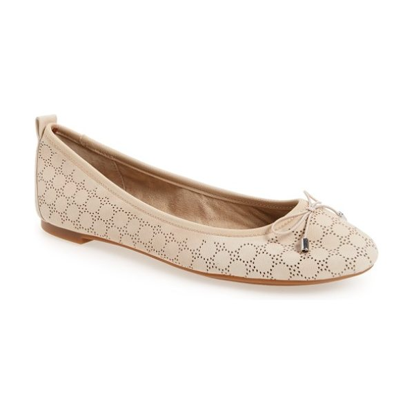Jessica Simpson nalan ballet flat in vanilla cream nubuck leather - Glittering crystals lend eye-catching sparkle to a...