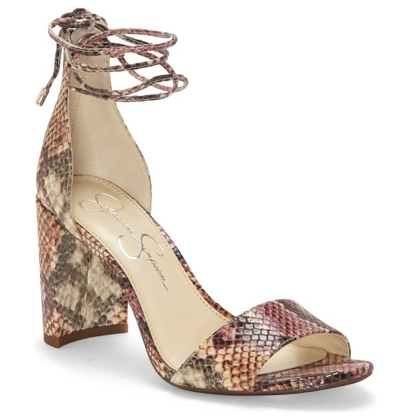 Jessica Simpson nehah ankle tie sandal in pink