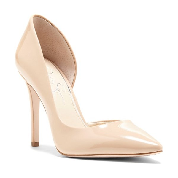 Jessica Simpson prizma half-d'orsay pump in beige - A curvy open side defines the flirty half-d'Orsay...