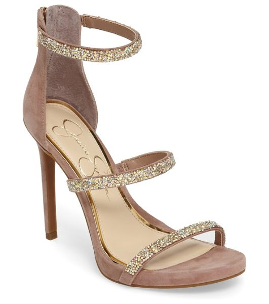 JESSICA SIMPSON rennia sandal - Glitter-encrusted straps add eye-catching glamour to a...