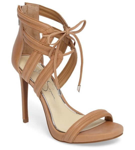 Jessica Simpson rensa sandal in buff - Slender ties cinch the cage straps of a statement sandal...