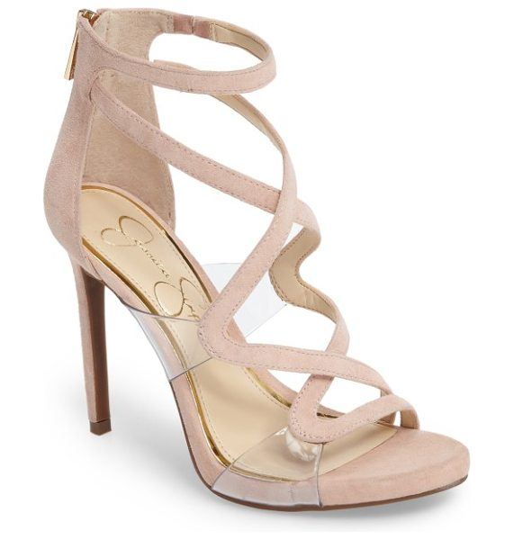Jessica Simpson roelyn sandal in nude blush - Sinuous cage straps wind provocatively up the front of a...