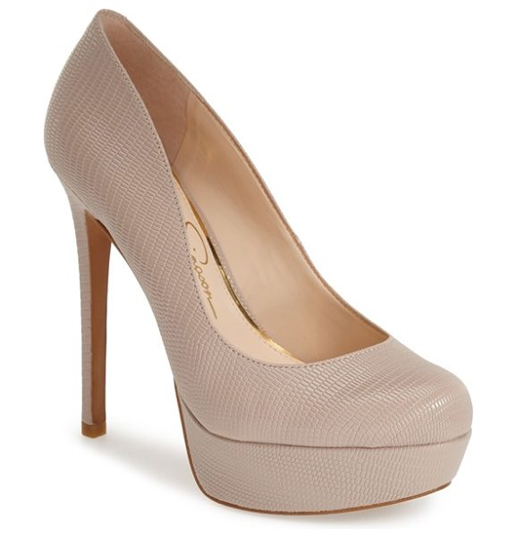 Jessica Simpson sandrah platform pump in sandbar - With curves in all the right places, this stunning...