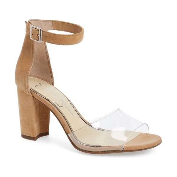 Jessica Simpson sherron sandal in clear/ buff