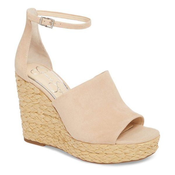 Jessica Simpson suella wedge sandal in sand dune - A delicate ankle strap anchors a fresh slide sandal...