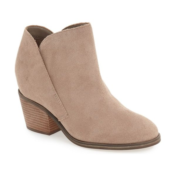 Jessica Simpson tandra bootie in warm taupe suede