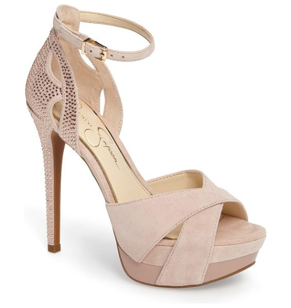 Jessica Simpson wendah strappy platform sandal in ballerina suede - The shoe you can't wait to show off, this strappy-heel,...