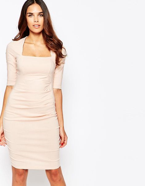 Jessica Wright Gilly pencil dress in nude bengaline - Evening dress by Jessica Wright Lightweight woven fabric...