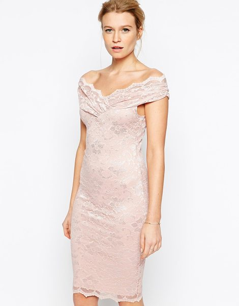 Jessica Wright Olivia lace dress in dusty pink - Lace dress by Jessics Wright Lined stretch lace...