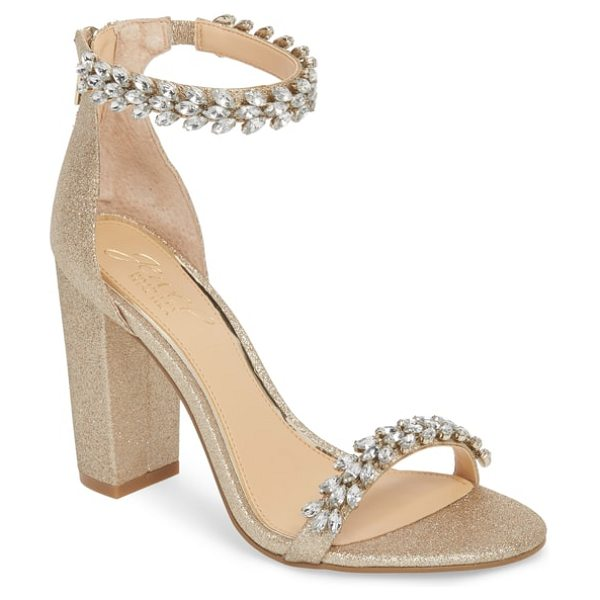 b362c62d7e5 JEWEL BADGLEY MISCHKA jewel by badgley mischka mayra embellished ankle  strap sandal in metallic - Sparkling