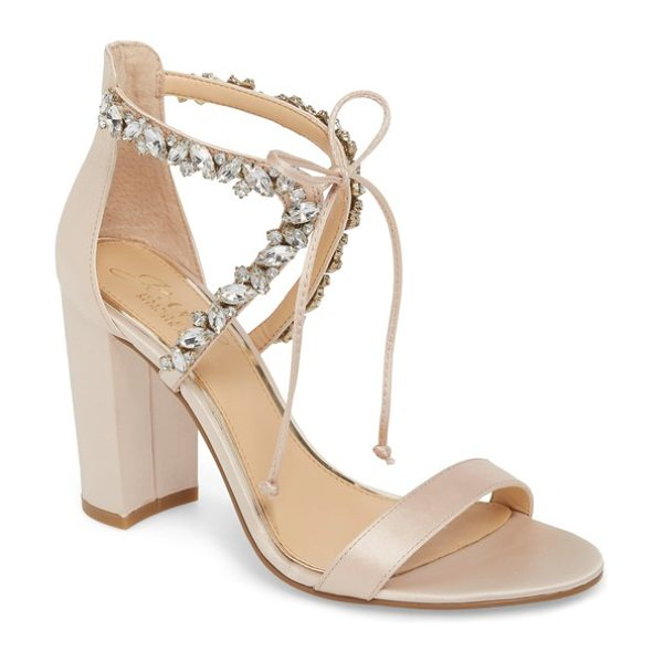 JEWEL BADGLEY MISCHKA thamar embellished sandal in metallic
