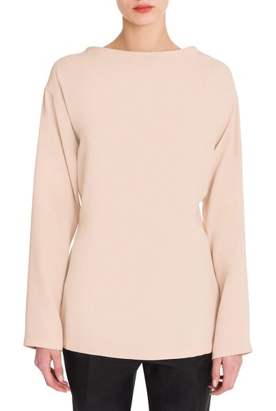 Jil Sander dada martingale-back blouse in blush - Relaxed blouse with back banded waist. Bateau neck....