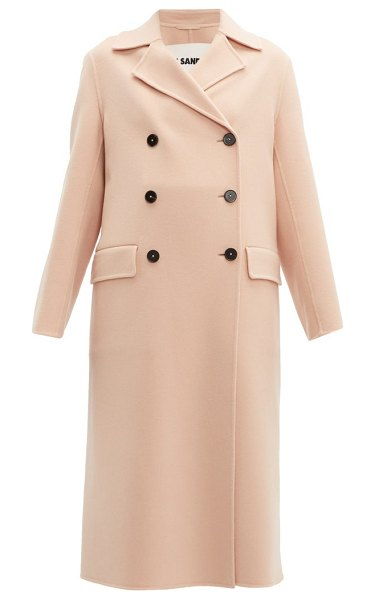 Jil Sander double-breasted cashmere coat in light pink