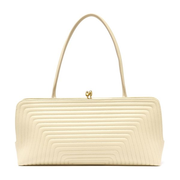 Jil Sander quilted-leather shoulder bag in beige