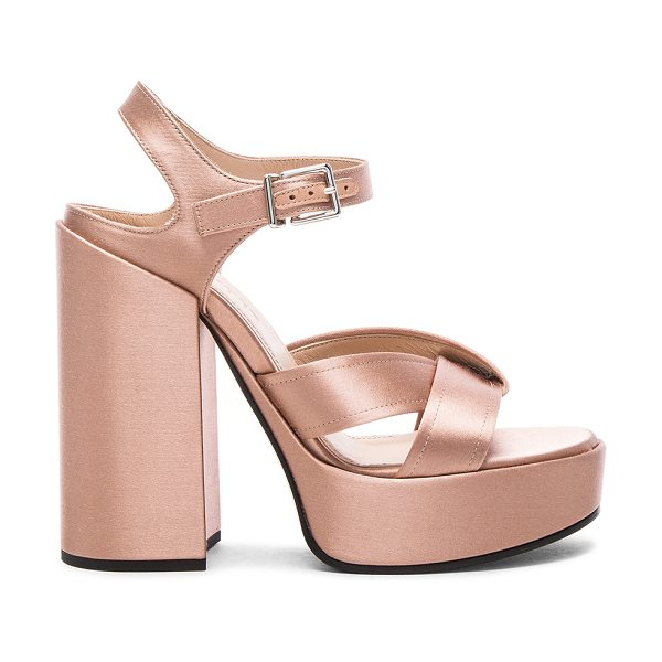 JIL SANDER Satin Heels - Satin upper wit leather sole. Made in Italy. Approx...