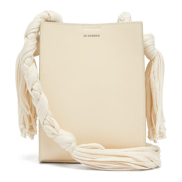 Jil Sander tangle small knotted strap leather bag in beige
