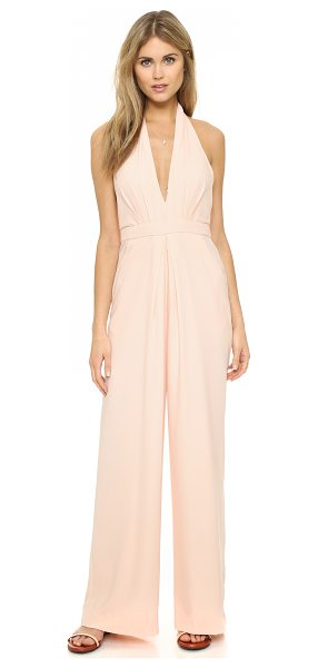 Jill Jill Stuart halter jumpsuit in rosy nude - Pleating accentuates the wide leg profile of this Jill...