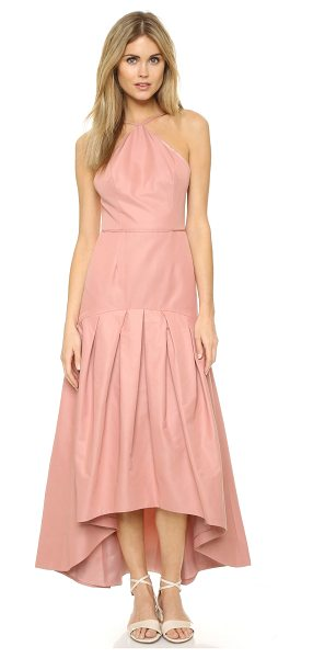 Jill Jill Stuart Mermaid cocktail dress in dusty rose - Pleating lends volume to the asymmetrical skirt on this...