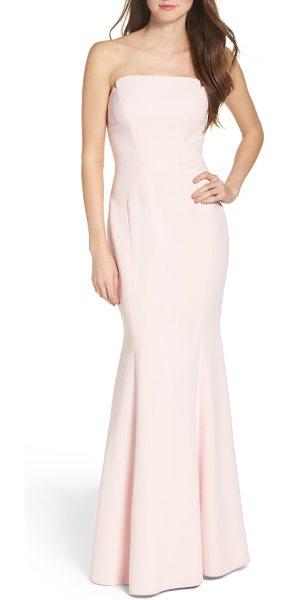 Jill Jill Stuart notched strapless gown in ballet pink - The classic trumpet gown gets a modern update with a...