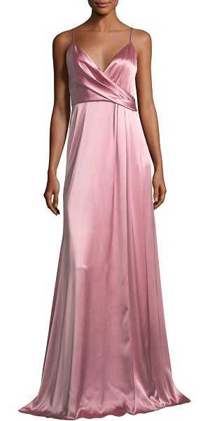 Jill Jill Stuart Sleeveless Satin Slip Gown in primrose - EXCLUSIVELY AT NEIMAN MARCUS Jill Jill Stuart evening...
