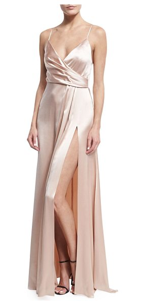 Jill Jill Stuart Sleeveless Satin Slip Gown in rosy nude - ONLYATNM Only Here. Only Ours. Exclusively for You. Jill...