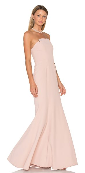 Jill Jill Stuart Strapless Gown in blush - Poly blend. Dry clean only. Fully lined. Internal...