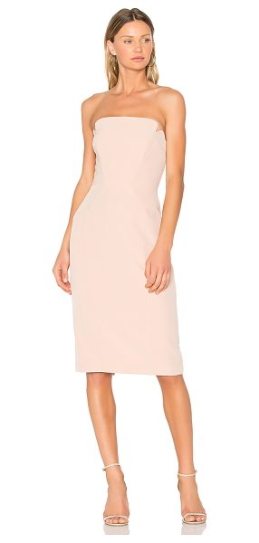 "Jill Jill Stuart Strapless Midi Dress in blush - ""Poly blend. Dry clean only. Fully lined. Plastic bodice..."