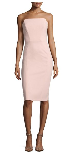 Jill Jill Stuart Strapless Structured Cocktail Dress in rosey nude - Jill Jill Stuart cocktail dress in crepe. Notched...